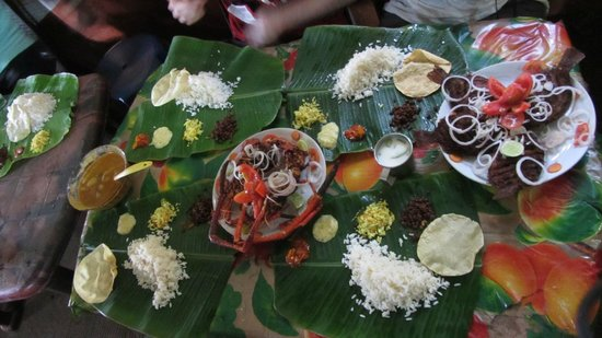 Kerala Kayaking:                   Delicious lunch