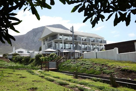 Hermanus Beach Villa:                                     The villa from the coastal path