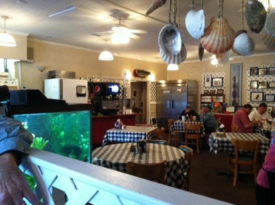 The lower dining room picture of fish hook grill for Island fish grill