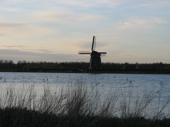 Colette's Family Homes Bed and Breakfast:                   Windmill across a nearby lake