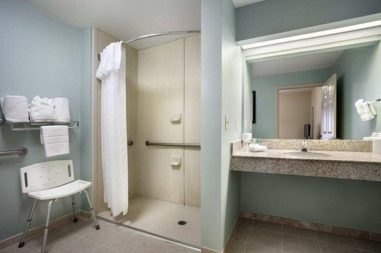 Homewood Suites by Hilton Nashville-Airport: Accessible Bathroom with Roll-In Shower