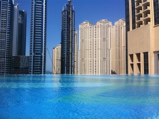 Pool View Night Time Picture Of The Address Dubai Marina Dubai Tripadvisor