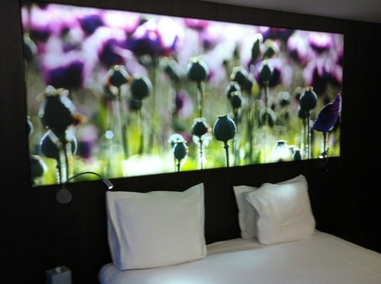 Flanders Hotel:                   Illuminated picture above our bed