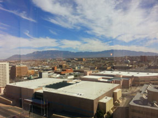 Hyatt Regency Albuquerque:                   Great view of the city and the Sandia Mountains.