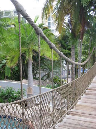 Hilton Rose Hall Resort & Spa: Bridge over waterpark