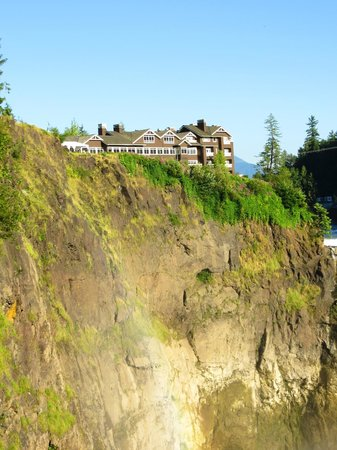 Salish Lodge & Spa:                   View from the waterfall