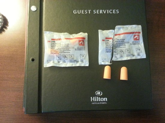Hilton San Diego Gaslamp Quarter:                   HILTON and EAR PLUGS should never be in the same sentence, let alone the same