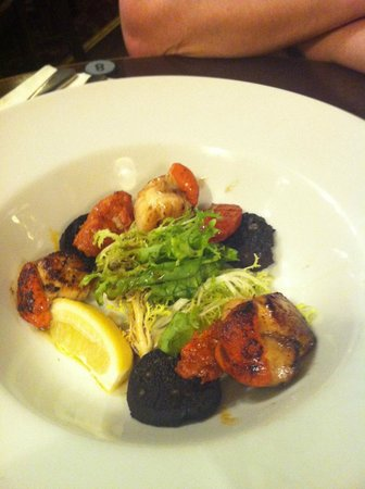 The Bowl Inn:                   great scallop with chorizo