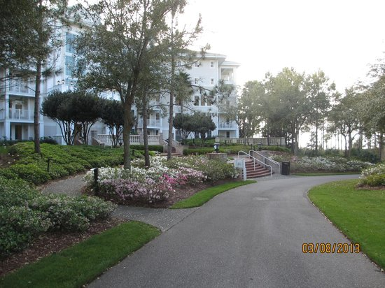 Sandestin Golf and Beach Resort:                   Grounds in the center of the buildings