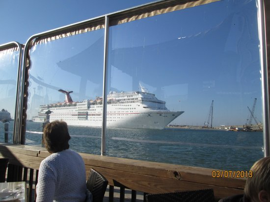Port Canaveral, FL:                   Cruise ship headed to sea