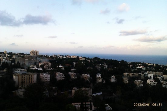 Dan Panorama Haifa:                   View from the hotel room.
