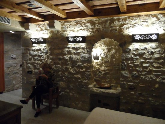 Hotel Historic:                   Love the original stone walls!