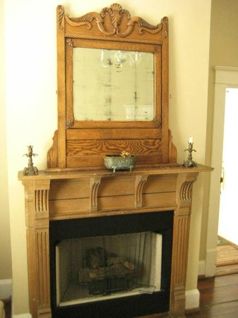 Stone Fort inn:                   Fireplace in my personal sitting room