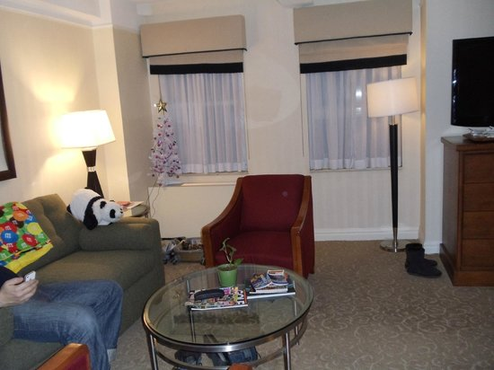 San Carlos Hotel:                   Executive Suite Lounge area