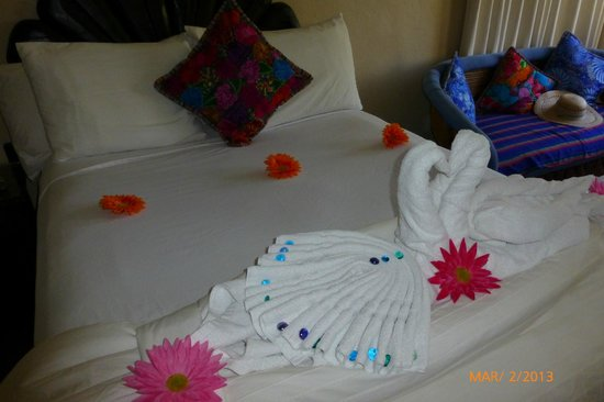 Tropicana Inn:                                     towel swans
