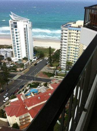 Surfers Century Apartments:                   View from the 24th floor