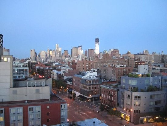 The Bowery Hotel:                   View from Bowery Hotel - 9th floor corner room