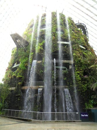 brilliant indoor waterfall