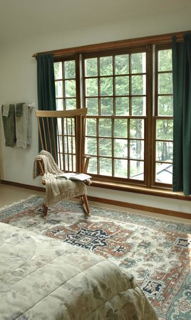 Lyme, NH: Room 6 with large window overlooking river
