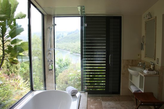 Point Villas:                   View from the bathroom