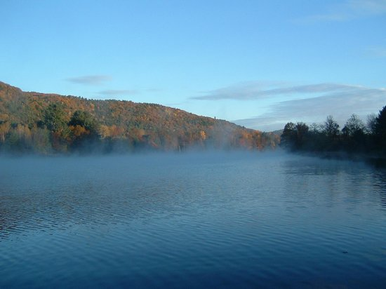 Lyme, NH: Early morning river view from our dock