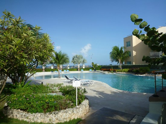 Oceania Residences:                   The pool (the beach is on the other side of the fence)