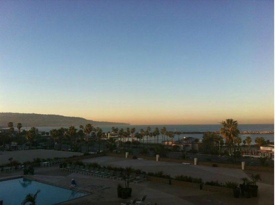 Crowne Plaza Redondo Beach & Marina:                   We have a great view at sunset of the marina, pool, and hills.