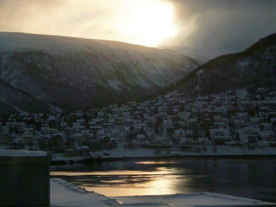 Radisson Blu Hotel, Tromso:                   sunrise from room 1030