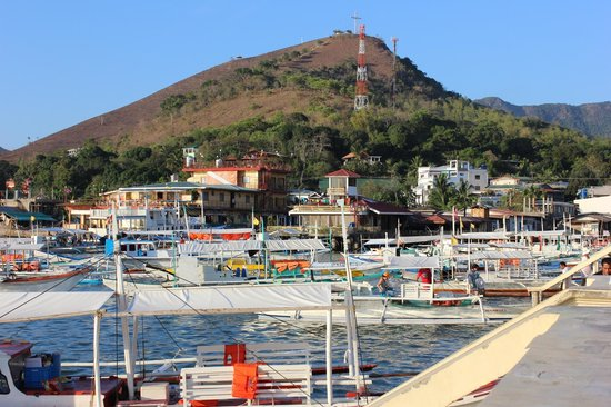 Busuanga Island Paradise:                                     Coron Harbour (Mt Tapyas in background)