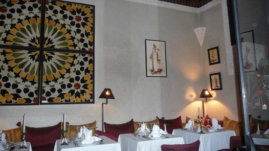 Le Riad Monceau: Une salle de restaurant