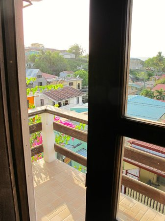 Martha's Guesthouse:                   View from Top room (first lady suite)