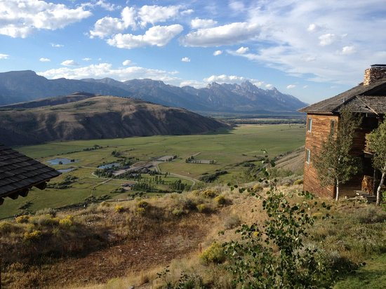 Spring Creek Ranch:                                     The view from the Grannary restaurant