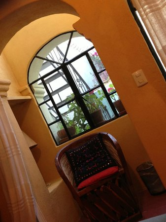 Casa de la Noche:                   this lovely corner  inside the Pepita's room, a nice please to read overlookin