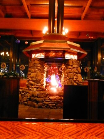 The Lodge at Gainesville:                   Amazing fireplace in the lobby.
