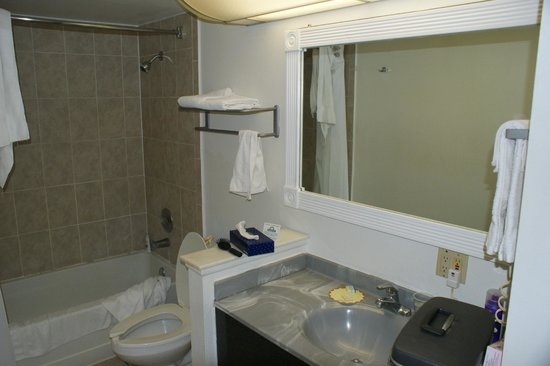 Days Inn &amp; Suites Port Richey:                   Another bathroom shot, sans my wife&#39;s tampons.