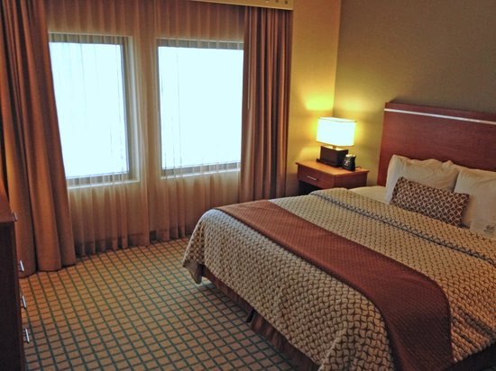 Embassy Suites Chicago O&#39;Hare Rosemont: King Suite Bedroom