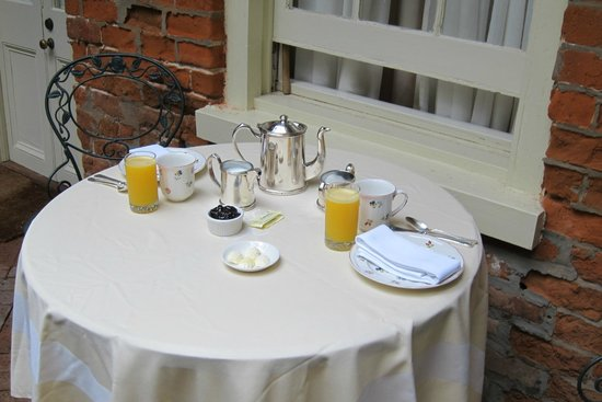 Soniat House:                   Breakfast in Courtyard