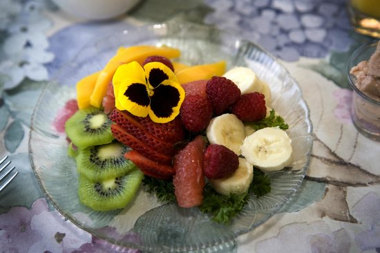 Solomons Victorian Inn: Fruit course
