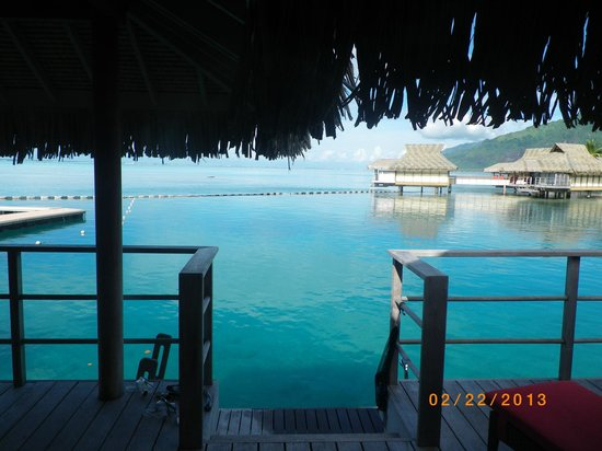 InterContinental Resort & Spa Moorea:                                     Our beautiful view