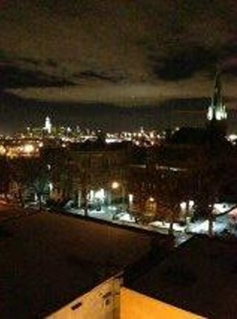 BEST WESTERN Plus Prospect Park Hotel:                   Nighttime view of lower Manhattan--Freedom Tower to the Empire State Building