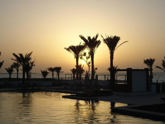 The St. Regis Saadiyat Island Resort:                   Resort at sunset