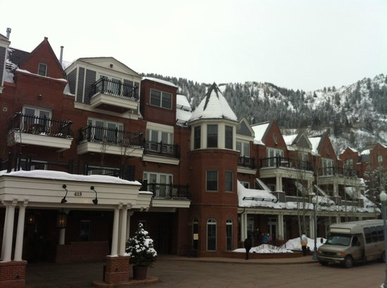 Hyatt Grand Aspen:                   View of hotel with Aspen mountain at back