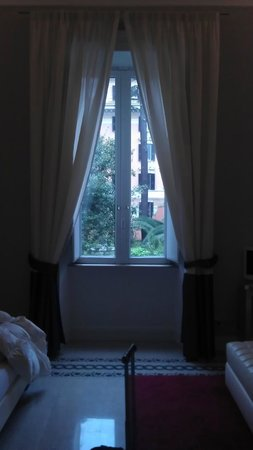Villa Urbani:                   View from the bed