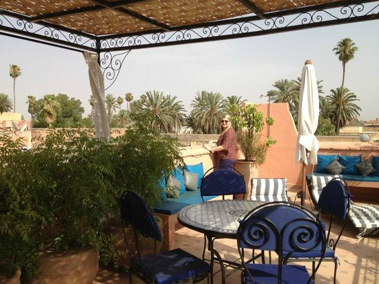 Riad Nora:                   Top Roof Terrance & dinning Area