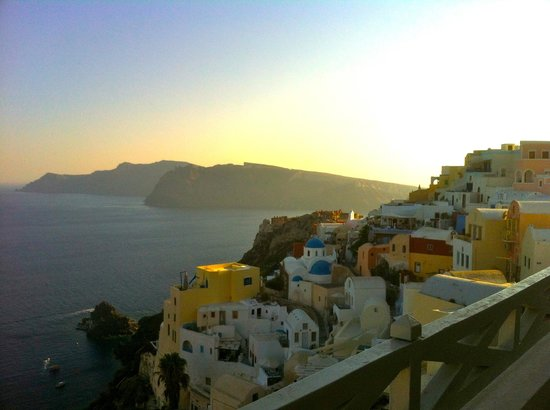 Old Oia Houses:                   View from