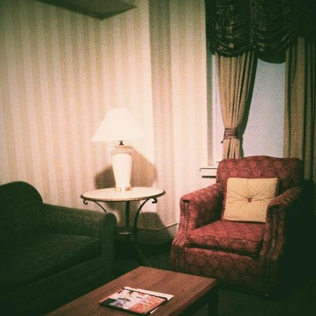 The Providence Biltmore:                   one of the cozy rooms in the evening - very sunny in the daytime too