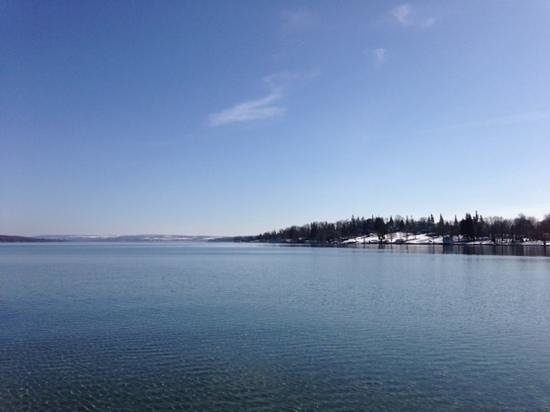 Skaneateles Suites Boutique Hotel:                   View of Skaneateles Lake from the village park