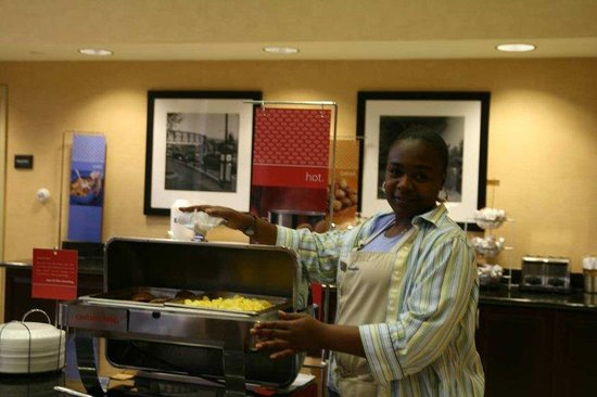 Hampton Inn Schenectady: Breakfast Hostess