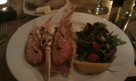 Seabreeze Restaurant with Rooms:                   Langoustine starters