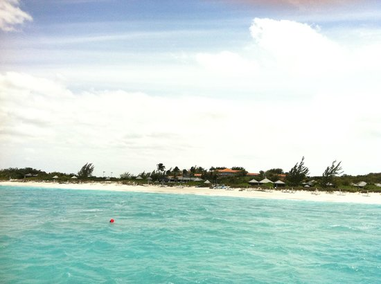 : View of resort from the ocean
